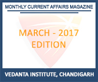 Vedanta Monthly Current Affairs March 2017 Magazine Free Download